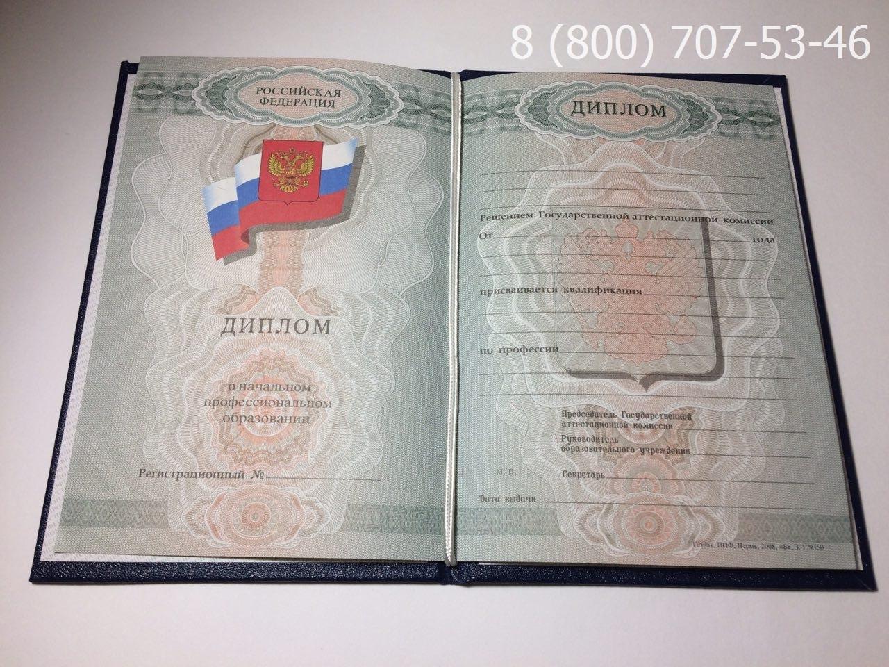Диплом о начальном образовании 2008-2010 года