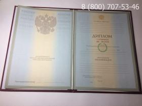 Диплом о высшем образовании с отличием 2004-2009 годов