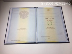 Диплом о высшем образовании 2010-2011 годов