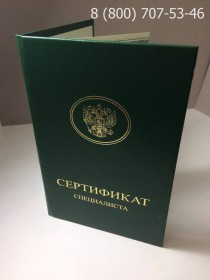 Медицинский сертификат 2013-2017 годов